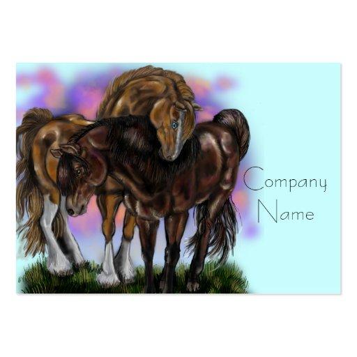 Tarjetas de visita equinas de los caballos de Devo