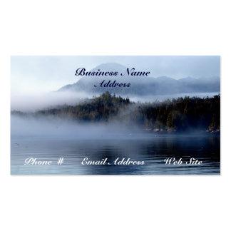 Tarjetas de visita escénicas de la niebla costera