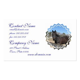 Tarjetas de visita excelentes del caballo