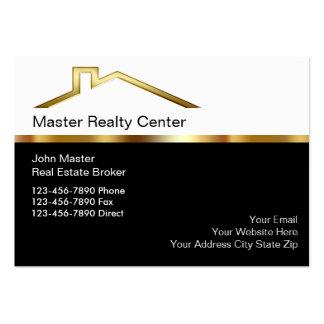 Tarjetas de visita exclusivas del agente inmobilia