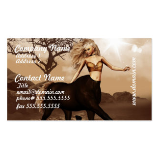 Tarjetas de visita femeninas del Centaur