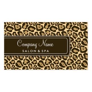 Tarjetas de visita femeninas del salón del leopard