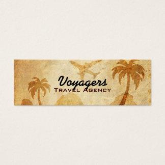 Tarjetas de visita flacas de la agencia de viajes