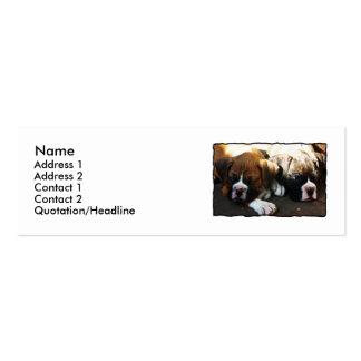Tarjetas de visita flacas de los perritos del boxe