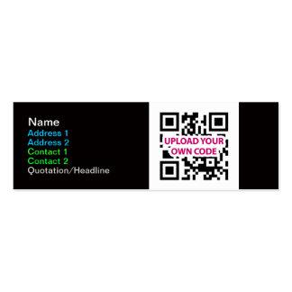 Tarjetas de visita flacas del código de QR