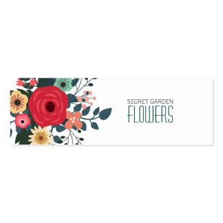Tarjetas de visita flacas del florista moderno