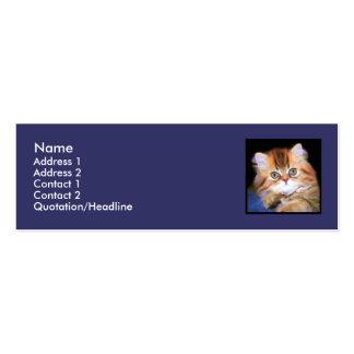 Tarjetas de visita flacas del gatito del Tabby
