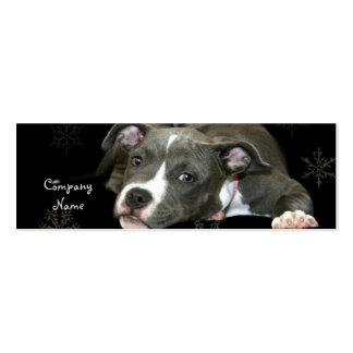 Tarjetas de visita flacas del perrito azul de Pitb