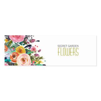 Tarjetas de visita flacas pintadas del florista de