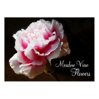 Tarjetas de visita florales de la foto del clavel