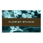 Tarjetas de visita florales de las tarjetas
