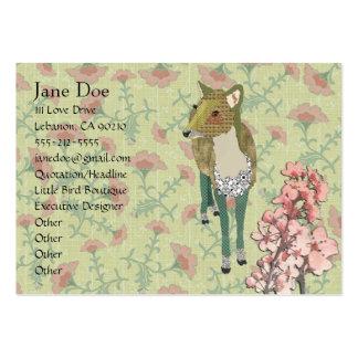 Tarjetas de visita florales de los ciervos delicad