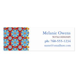 Tarjetas de visita florales del mosaico
