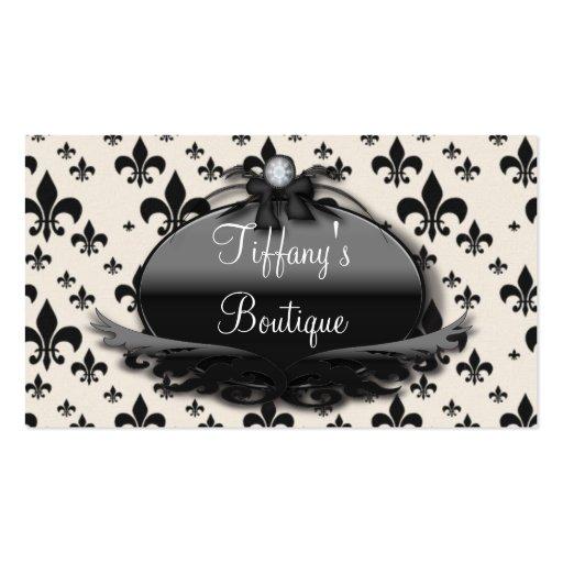 Tarjetas de visita francesas de moda del damasco d