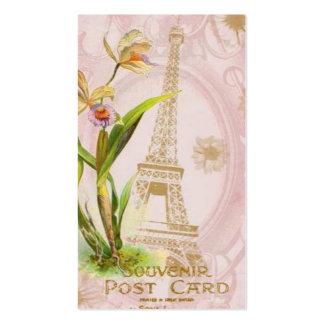 Tarjetas de visita francesas del estilo de la