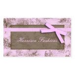 Tarjetas de visita francesas rosadas de la tela de