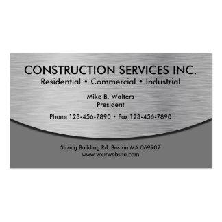 Tarjetas de visita frescas de construcción