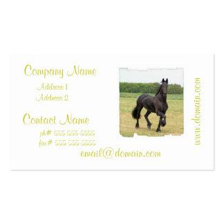 Tarjetas de visita frisias del caballo