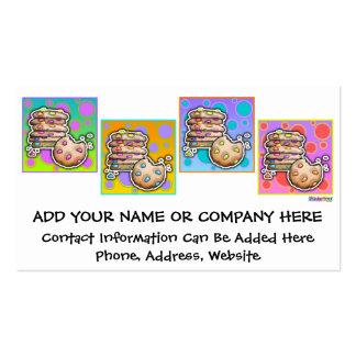 TARJETAS de VISITA - galletas del arte pop