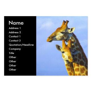 Tarjetas de visita gemelas de las jirafas