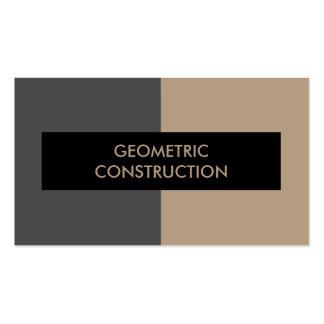 Tarjetas de visita geométricas de construcción
