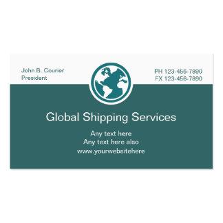 Tarjetas de visita globales de envío