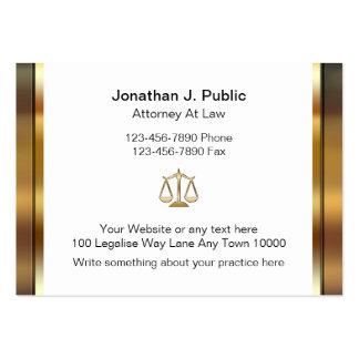 Tarjetas de visita grandes del abogado