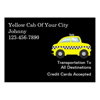 Tarjetas de visita grandes del taxi