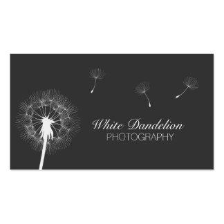 Tarjetas de visita gris oscuro de la fotografía de
