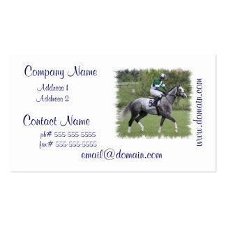 Tarjetas de visita grises Dappled del caballo de r