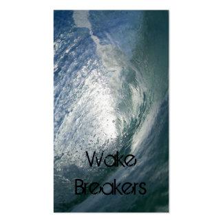 Tarjetas de visita grises de la onda de marea de l