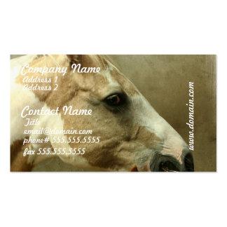Tarjetas de visita grises del caballo de Eventing