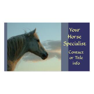 Tarjetas de visita grises del caballo