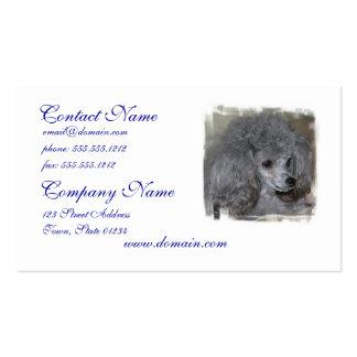 Tarjetas de visita grises del caniche
