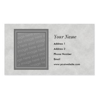 Tarjetas de visita grises del marco de la foto