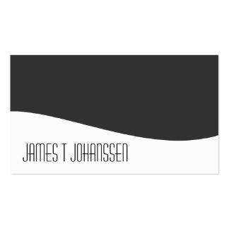 Tarjetas de visita grises y blancas profesionales