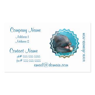 Tarjetas de visita habladoras del delfín
