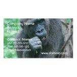 Tarjetas de visita hambrientas del gorila