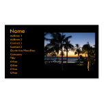 Tarjetas de visita hawaianas de la puesta del sol