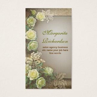 tarjetas de visita hermosas de la elegancia del