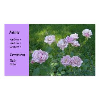 Tarjetas de visita hermosas de los rosas del seto
