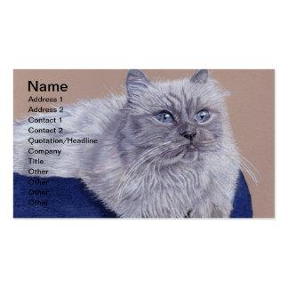 Tarjetas de visita Himalayan del gato