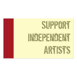 Tarjetas de visita independientes de los artistas