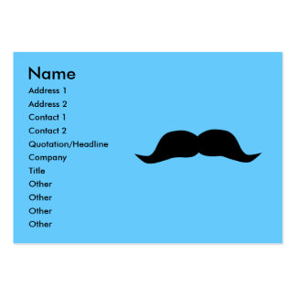 Tarjetas de visita inmediatas del bigote