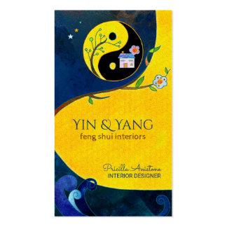 Tarjetas de visita interiores de Yin y de Yang