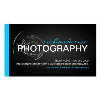 Tarjetas de visita intrépidas y modernas del fotóg