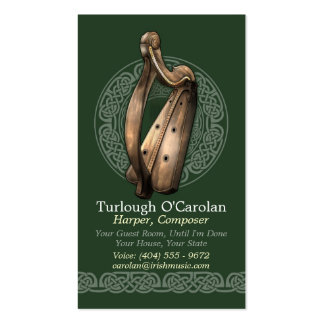 Tarjetas de visita irlandesas de la arpa estilo 2