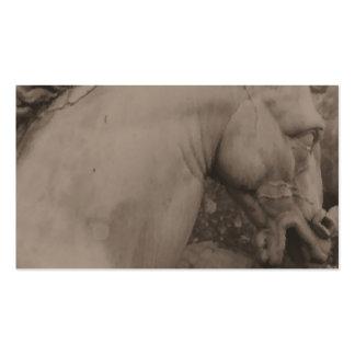 Tarjetas de visita italianas del caballo del renac