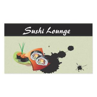 Tarjetas de visita japonesas elegantes del sushi