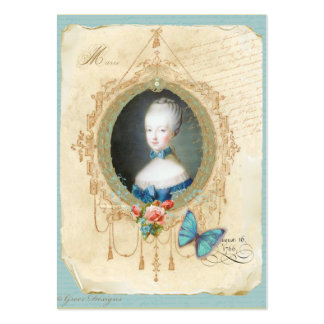 Tarjetas de visita jovenes de Marie Antonieta